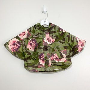 Baby Gap Camo Floral Print Parka Hooded Poncho